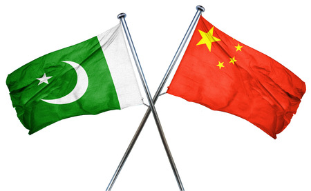isolation backdrop: Pakistan flag combined with china flag