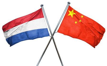 combined: Netherlands flag combined with china flag
