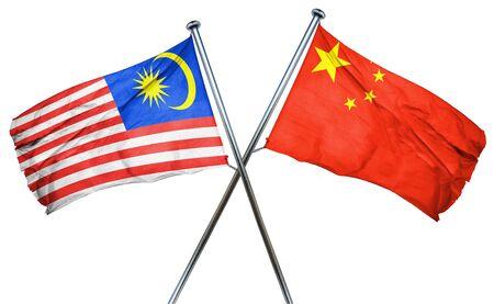 amity: Malaysia flag combined with china flag Stock Photo