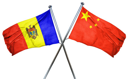 amity: Moldova flag combined with china flag