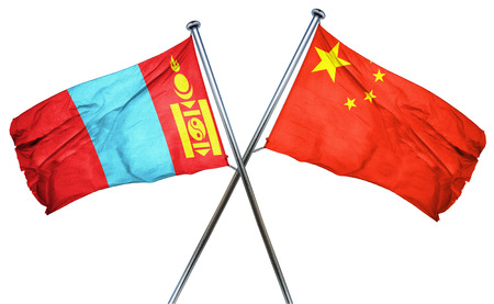 amity: Mongolia flag combined with china flag