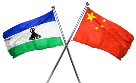 lesotho: Lesotho flag combined with china flag