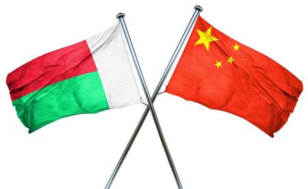 amity: Madagascar flag combined with china flag