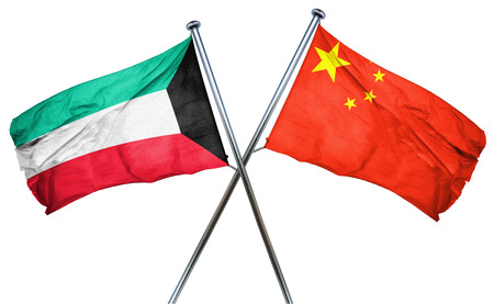 Kuwait flag combined with china flag
