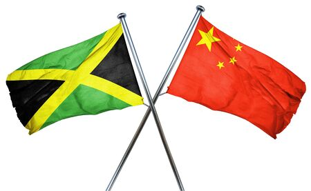 amity: Jamaica flag combined with china flag