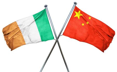 bandera irlanda: La bandera de Irlanda combinado con la bandera de china