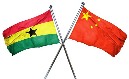 ghanese: Ghana flag combined with china flag