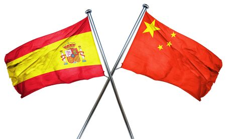 spanish flag: Spanish flag combined with china flag