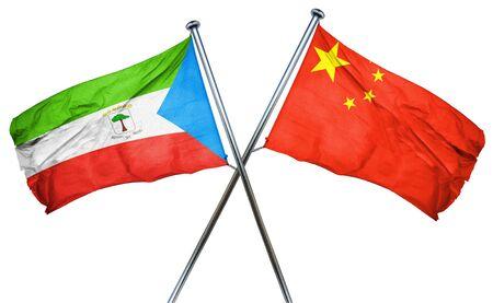 equatorial guinea: Equatorial guinea flag combined with china flag
