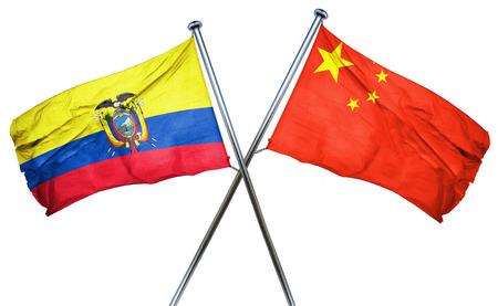 amity: Ecuador flag combined with china flag