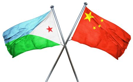 amity: Djibouti flag combined with china flag