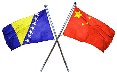 amity: Bosnia and Herzegovina flag combined with china flag