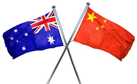 australian culture: Australia flag combined with china flag