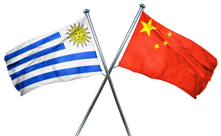 bandera de uruguay: bandera de Uruguay combinado con la bandera de china