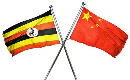isolation backdrop: Uganda flag combined with china flag