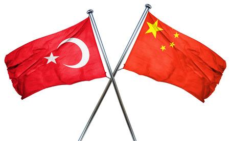 turkey flag: Turkey flag combined with china flag Stock Photo