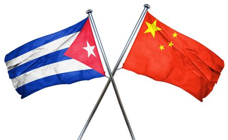 combined: Cuba flag combined with china flag