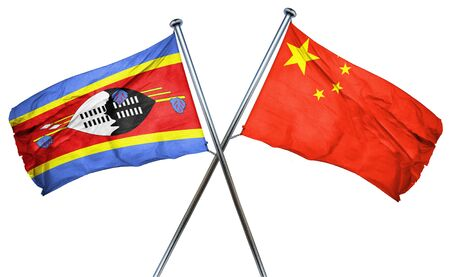 swaziland: Swaziland flag combined with china flag