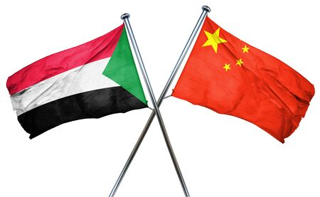sudan: Sudan flag combined with china flag