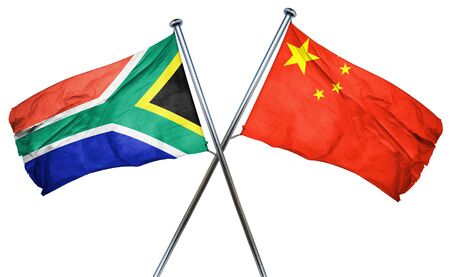 amity: South africa flag combined with china flag