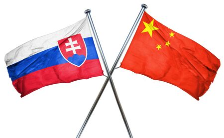 slovakia flag: Slovakia flag combined with china flag