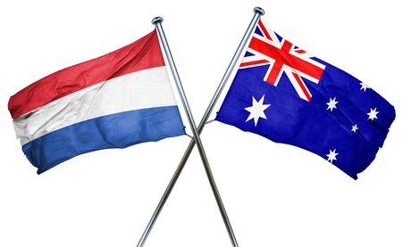 netherlands flag: Netherlands flag combined with australian flag