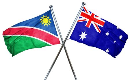 treaty: Namibia flag combined with australian flag Stock Photo