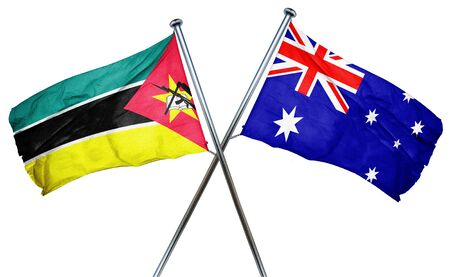 australian flag: Mozambique flag combined with australian flag