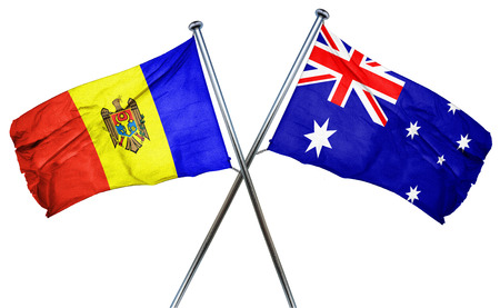 combined: Moldova flag combined with australian flag