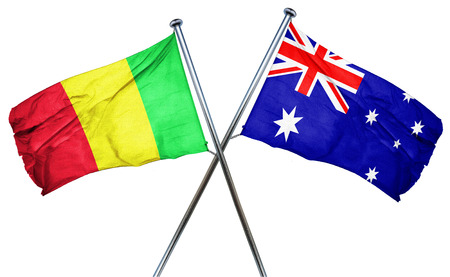 isolation backdrop: Mali flag combined with australian flag