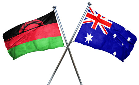 malawi flag: Malawi flag combined with australian flag