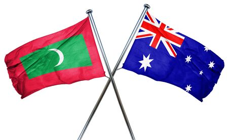 australian flag: Maldives flag combined with australian flag