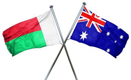 amity: Madagascar flag combined with australian flag