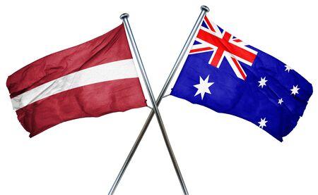 latvia flag: Latvia flag combined with australian flag