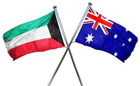 australian culture: Kuwait flag combined with australian flag Stock Photo