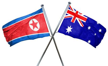 amity: North Korea flag combined with australian flag