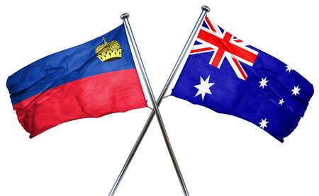 treaty: Liechtenstein flag combined with australian flag