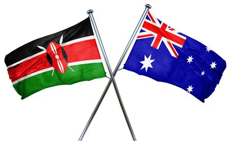 isolation backdrop: Kenya flag combined with australian flag