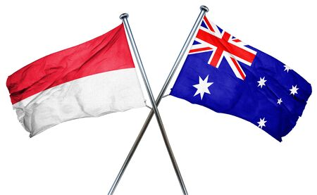 combined: Indonesia flag combined with australian flag