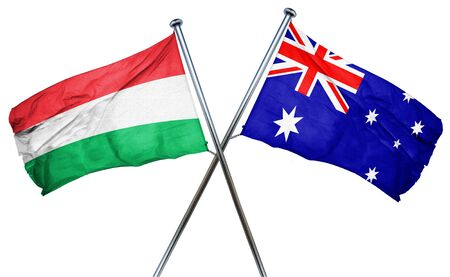 combined: Hungary flag combined with australian flag