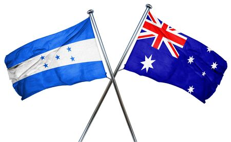 treaty: Honduras flag combined with australian flag