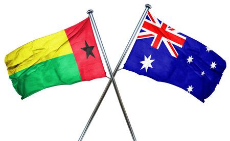 australian culture: Guinea bissau flag combined with australian flag