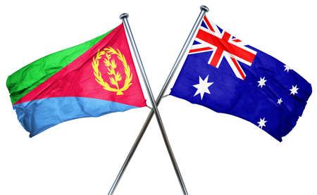 combined: Eritrea flag combined with australian flag Stock Photo