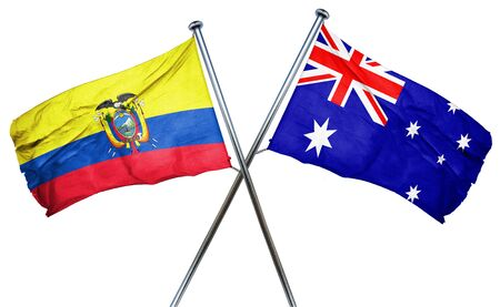 amity: Ecuador flag combined with australian flag