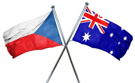 czechoslovakia: czechoslovakia flag combined with australian flag Stock Photo