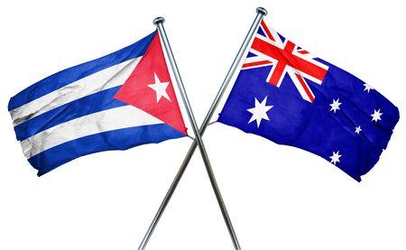 cuba flag: Cuba flag combined with australian flag