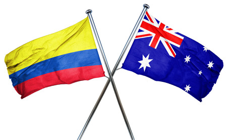 australian flag: Colombia flag combined with australian flag