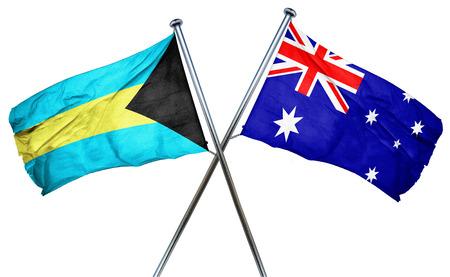 combined: Bahamas flag combined with australian flag Stock Photo