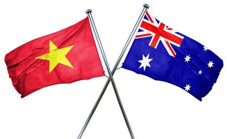 vietnam flag: Vietnam flag combined with australian flag
