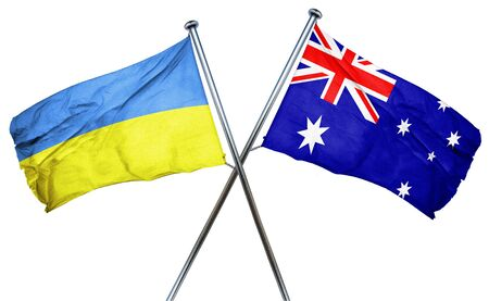 ukraine flag: Ukraine flag combined with australian flag